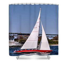 American Eagle Newport Ri Shower Curtain by Tom Prendergast