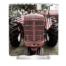 American Farmall Head On Shower Curtain