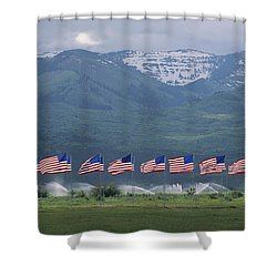American Flags Honoring Veterans Shower Curtain by James P. Blair