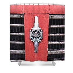American Foamite Firetruck Emblem Shower Curtain