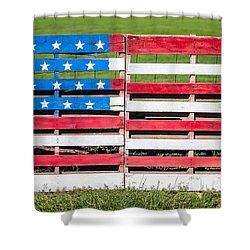 American Folk Art Shower Curtain