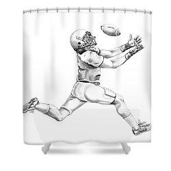 American Football Shower Curtain by Murphy Elliott