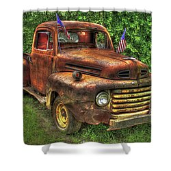 American Ford 1950 F-1 Ford Pickup Truck Art Shower Curtain