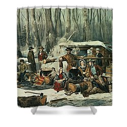American Forest Scene Shower Curtain by Currier and Ives