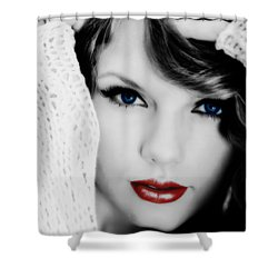 American Girl Taylor Swift Shower Curtain by Brian Reaves