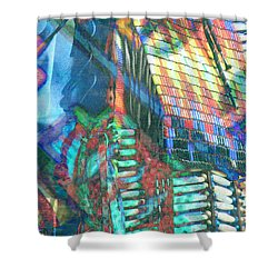 American Indian Impression Shower Curtain