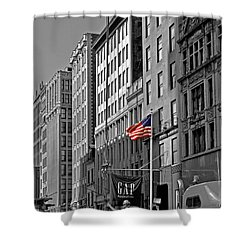 American Iron Worker Shower Curtain