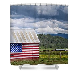American Landscape Shower Curtain