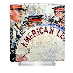 American Legion Shower Curtain by Carolyn Coffey Wallace
