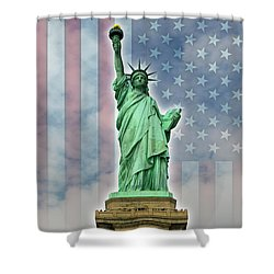 American Liberty Shower Curtain by Timothy Lowry