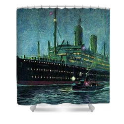 American Line, New York Shower Curtain