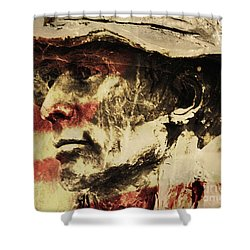American Patriot Shower Curtain by Kathleen K Parker