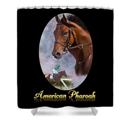 American Pharoah Framed Shower Curtain