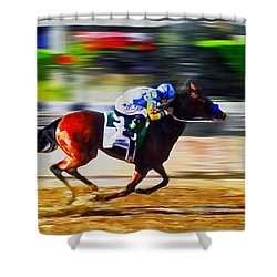 American Pharoah Shower Curtain by Rick Mosher
