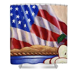 American Pie Shower Curtain by Linda Mears