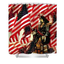 American Pirate Shower Curtain by David Lee Thompson