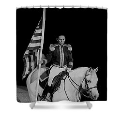 American Pride Horse Shower Curtain