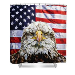 Shower Curtain featuring the photograph American Pride by Scott Carruthers