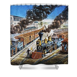 American Railway, 1876 Shower Curtain by Granger
