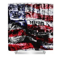 American Rock Crawler Shower Curtain