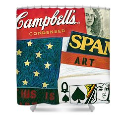 American Self Portrait Shower Curtain by Gerry High