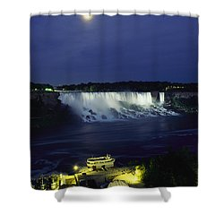 American Side Of Niagara Falls, Seen Shower Curtain by Richard Nowitz