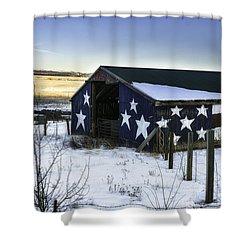 American Snow  Shower Curtain