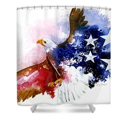 American Spirit Shower Curtain by Sherry Shipley