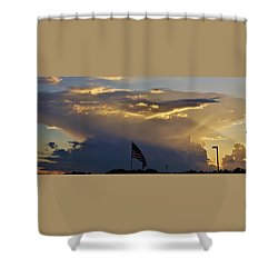 Shower Curtain featuring the photograph American Supercell by Ed Sweeney