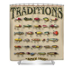 American Traditions Lures Shower Curtain