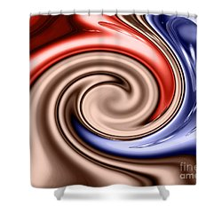 American Turmoil Shower Curtain