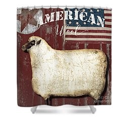 American Wool Shower Curtain
