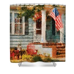Americana - America The Beautiful Shower Curtain by Mike Savad