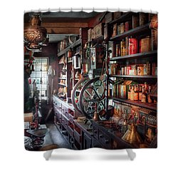 Americana - Store - Corner Grocer  Shower Curtain by Mike Savad