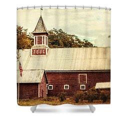 Americana Barn Shower Curtain by Lisa Russo