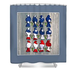 Americana Birds Shower Curtain