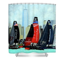 America's Cup New York City Shower Curtain