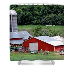 Americas Heartland Shower Curtain by DigiArt Diaries by Vicky B Fuller