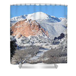 America's Mountain Shower Curtain by Eric Glaser