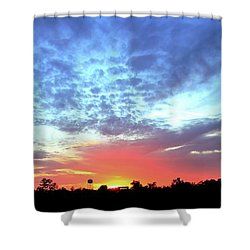City On A Hill - Americus, Ga Sunset Shower Curtain