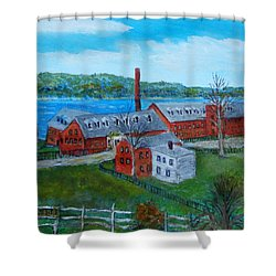 Amesbury Hat Shop Shower Curtain