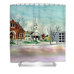 Amesbury Public Library Circa 1920 Shower Curtain