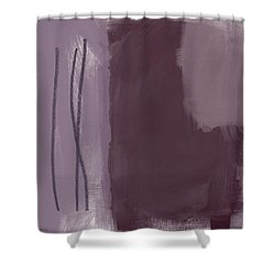Amethyst 3- Abstract Art By Linda Woods Shower Curtain
