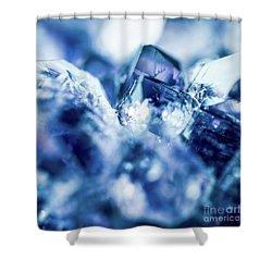 Amethyst Blue Shower Curtain by Sharon Mau