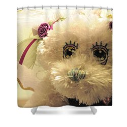 Amethyst Fairy Bear Shower Curtain