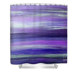 Amethyst Mirage  Shower Curtain by Rachel Hannah