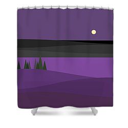 Amethyst Night Shower Curtain