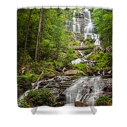 Shower Curtain featuring the photograph Amicalola Falls by Michael Sussman