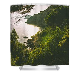 Amidst Fantasy And Reality Shower Curtain