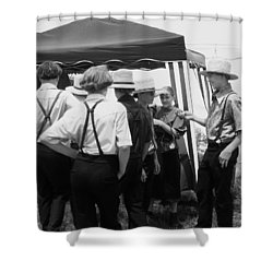 Amish Auction Day Shower Curtain by Eric  Schiabor